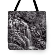Secluded Falls - Bw Tote Bag