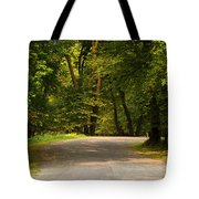 Secluded Forest Road Tote Bag