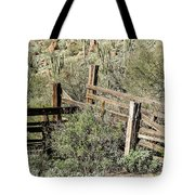 Secluded Historic Corral In Sonoran Desert Tote Bag