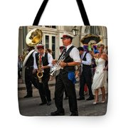 Second Line Wedding On Bourbon Street New Orleans Tote Bag