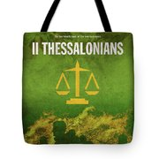 Second Thessalonians Books Of The Bible Series New Testament Minimal Poster Art Number 14 Tote Bag
