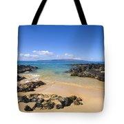 Secret Beach Of Kahoolawe And Molokini Tote Bag