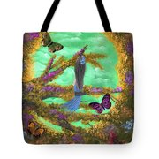 Secret Butterfly Garden Tote Bag