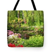 Secret Garden Pond Tote Bag