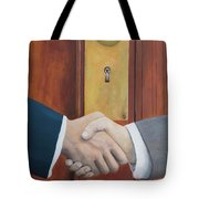 Secret Handshake Tote Bag