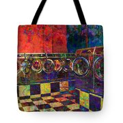 Secret Life Of Laundromats Tote Bag