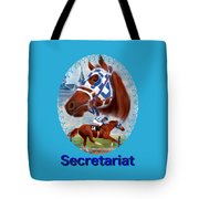 Secretariat Racehorse Portrait Tote Bag