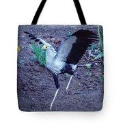 Secretary Bird Running Tote Bag