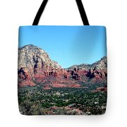 Sedona Arizona City Scape Tote Bag