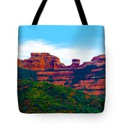 Sedona Arizona Red Rock Tote Bag by Jill Reger