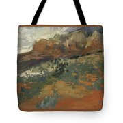 Sedona Az  Break In The Storm Tote Bag