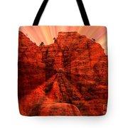 Sedona Sunset Energy - Abstract Art Tote Bag by Carol Groenen