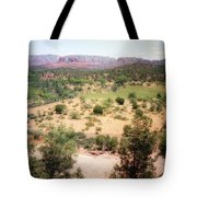 Sedona View Red Rock Mesa Tote Bag