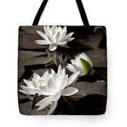 See Roses In The Pond Tote Bag