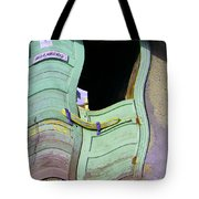 See-through Green And Red Doors Tote Bag