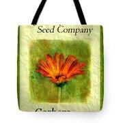 Seed Packet -- Gerbera Daisies Tote Bag