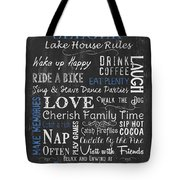 Seeger Lake House Rules Tote Bag