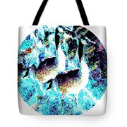 Double Geese In Waterfall Tote Bag
