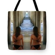 Seeing Double, Huntington Beach, California Tote Bag
