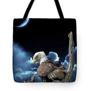 Seeing Eye To Eye Under The Moonlight Tote Bag