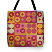 Seeing Red Squared Tote Bag