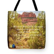 Seek First God's Kingdom Tote Bag