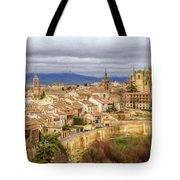 Segovia Cathedral View Tote Bag