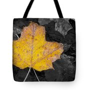 Selective Color Leaf Tote Bag
