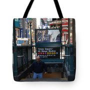 Self At Subway Stairs Tote Bag