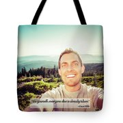 Self Portrait From A Mountain Top Tote Bag