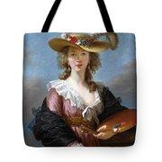 Self Portrait In A Straw Hat Tote Bag