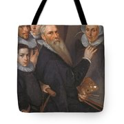 Self Portrait Of The Painter And His Family Tote Bag