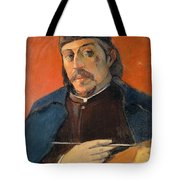 Self Portrait With A Palette Tote Bag