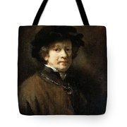 Self Portrait With Cap And Gold Chain Rembrandt Harmenszoon Van Rijn Tote Bag