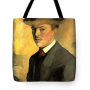 Self Portrait With Hat Tote Bag