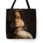 Self-portrait With Her Daughter Jeanne-lucie Tote Bag