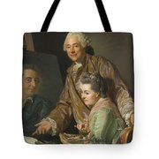 Self-portrait With His Wife Marie-suzanne Giroust Tote Bag