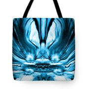 Self Reflection - Blue Tote Bag