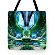 Self Reflection - Blue Green Tote Bag