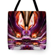 Self Reflection - Purple Orange Tote Bag