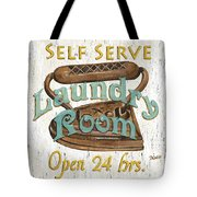 Self Serve Laundry Tote Bag by Debbie DeWitt