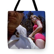 Selfie With Pink Bikini Girl Tote Bag