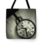 Selfportrait On A Clock Tote Bag