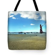 Selfy On The Beach Tote Bag