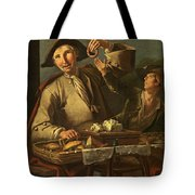 Seller Of Sweets And Donuts Tote Bag