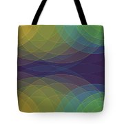 Semi Circle Background Horizontal Tote Bag