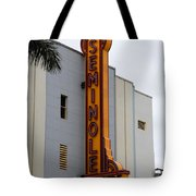 Seminole Theatre 1940 Tote Bag by David Lee Thompson