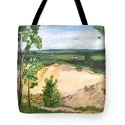 Send Dunes With A Farm House Tote Bag