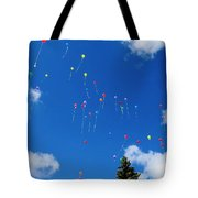 Sending Love Notes To Heaven Tote Bag
