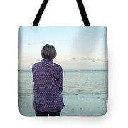 Senior Woman On The Beach  Tote Bag